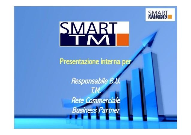 Presentazione interna per Responsabile B.U. T.M. Rete Commerciale Business Partner