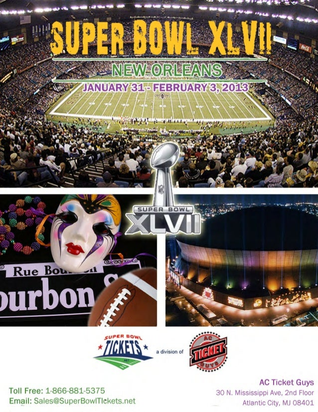 SuperBowlTickets.net Travel and Hotel Packages Brochure