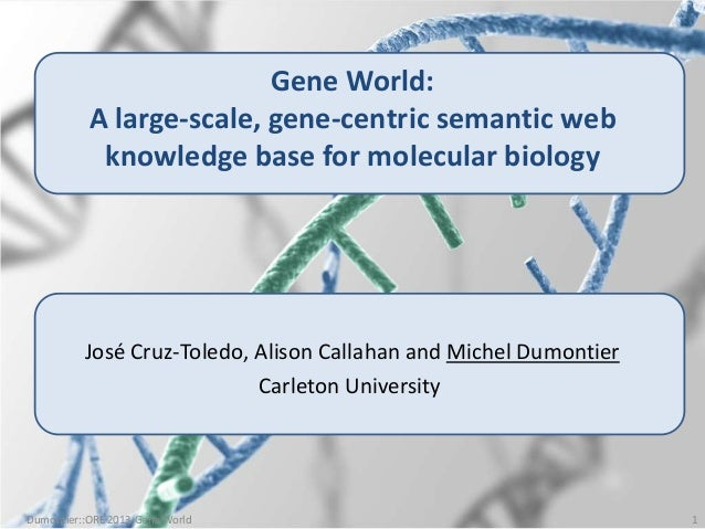 Gene World: A large-scale gene-centric semantic web knowledge base for molecular biology (ORE2013)