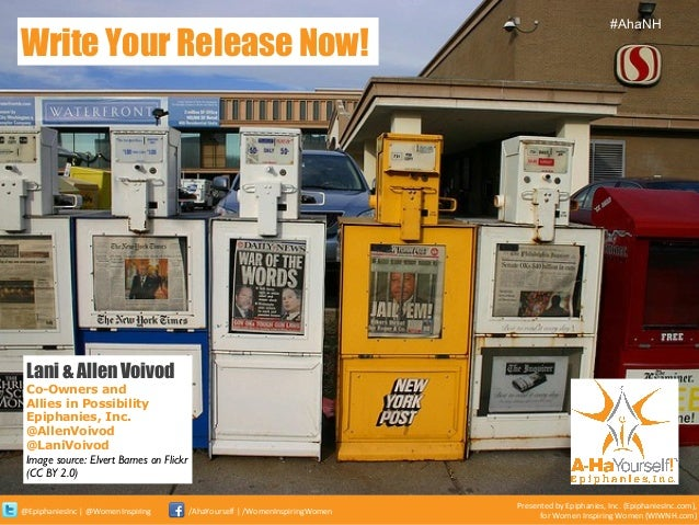 Write Your Press Release Now!