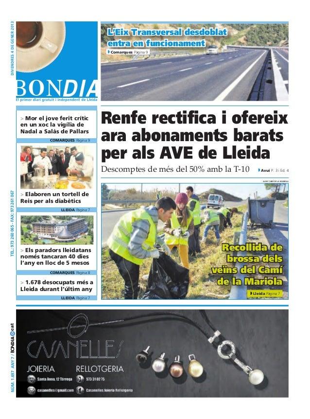Bondia Lleida 04/01/2013