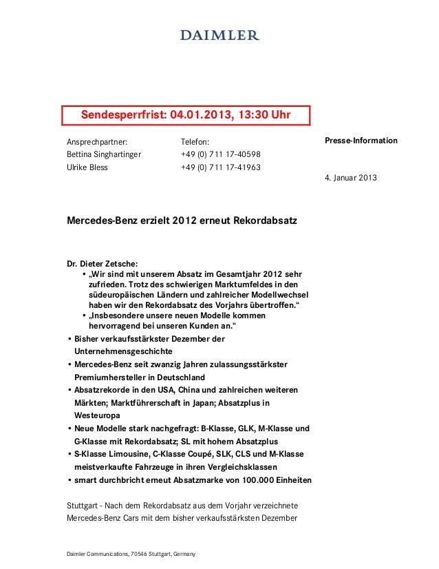 Sendesperrfrist: 04.01.2013, 13:30 UhrAnsprechpartner:                          Telefon:               Presse-InformationB...