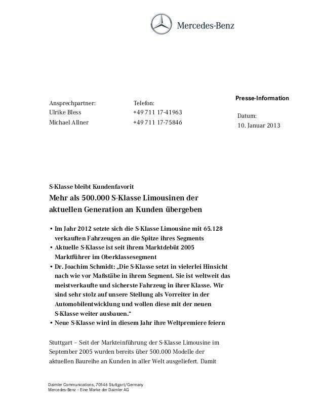 Presse-InformationAnsprechpartner:                         Telefon:Ulrike Bless                             +49 711 17-419...