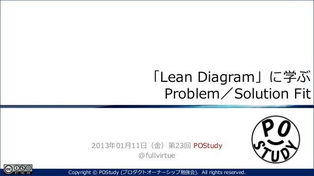 『「Lean Diagram」に学ぶProblem/Solution Fit』第23回 POStudy ~プロダクトオーナーシップ勉強会~