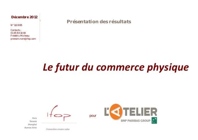 Le futur du commerce physique