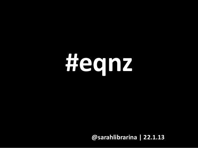 #eqnz: Sarah Gallagher