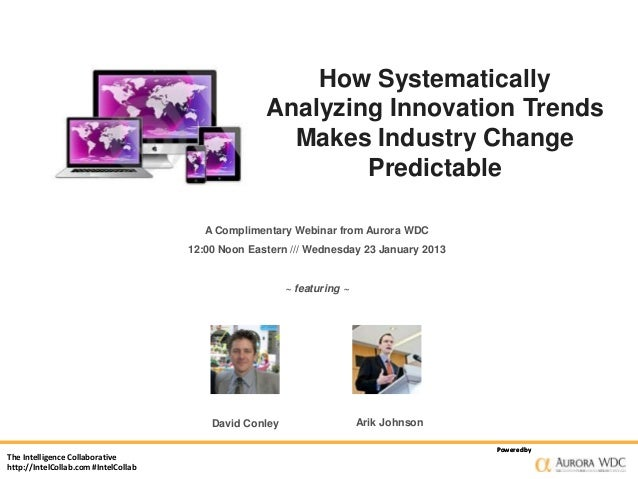 How Systematically Analyzing Innovation Trends Makes Industry Change Predictable