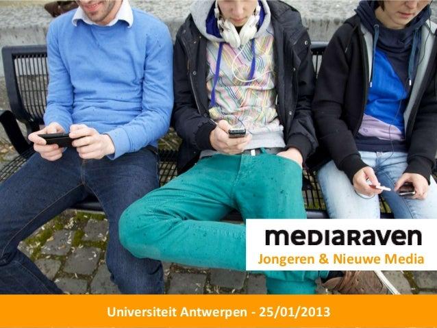 Jongeren & Nieuwe MediaUniversiteit Antwerpen - 25/01/2013