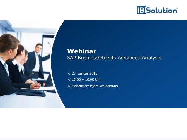 Webinar                                        SAP BusinessObjects Advanced Analysis                                      ...