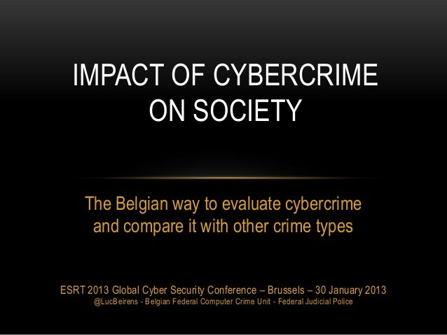 20130130 Measuring impact of cybercrime on society