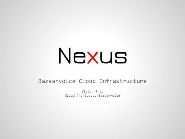 NexusBazaarvoice Cloud Infrastructure                Victor Trac       Cloud Architect, Bazaarvoice