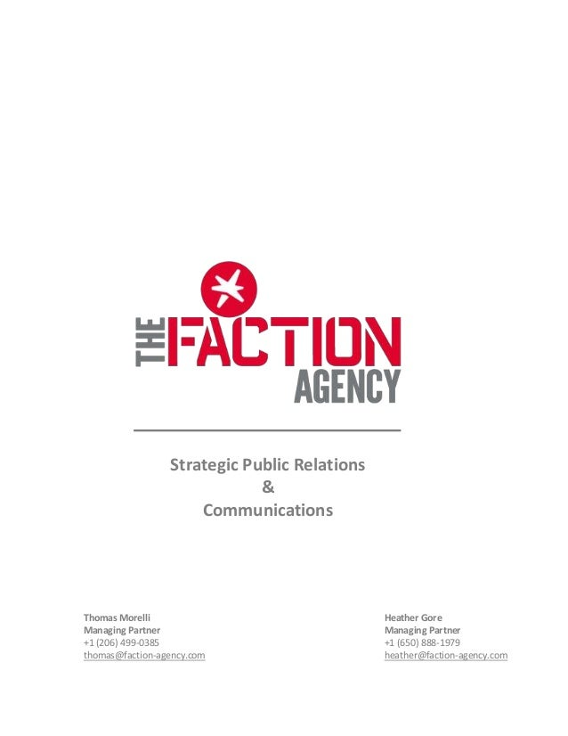 The Faction Agency - 2013 Capabilities