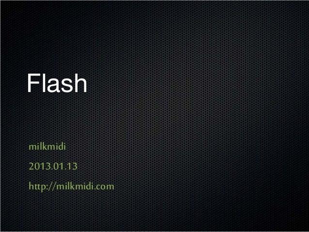 2013 01 13 webconf milkmidi Flash