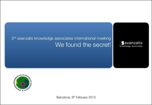 3rd avanzalis knowledge associates international meeting