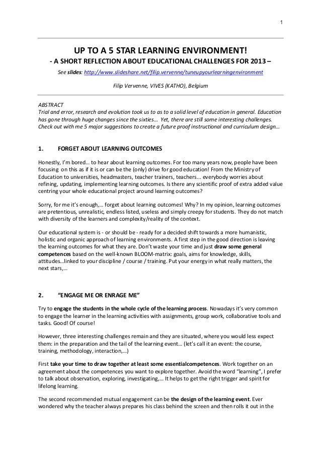 20130205 tuneupyourlearningenvironment