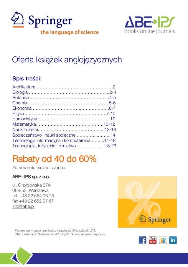 Springer books | up to 60%