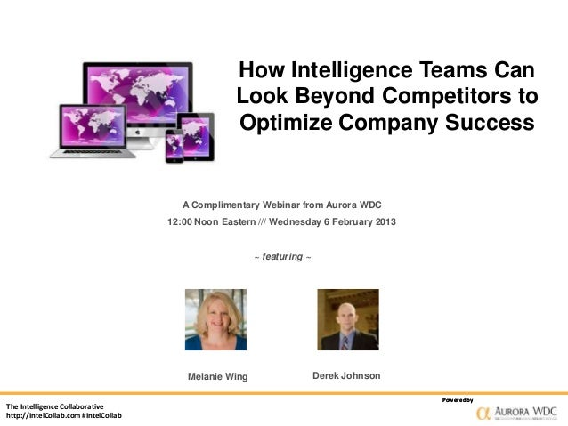 How Intelligence Teams Can                                                    Look Beyond Competitors to                  ...