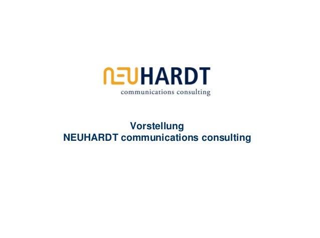 Agenturpräsentation NEUHARDT communications consulting