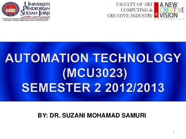 BY: DR. SUZANI MOHAMAD SAMURI                                1