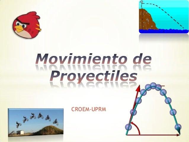 Repaso del movimiento de proyectiles