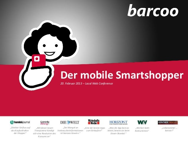 """Der mobile Smartshopper                                                  20. Februar 2013 – Local Web Conference""""Direkter ..."""