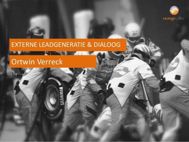 EXTERNE LEADGENERATIE & DIALOOGOrtwin Verreck