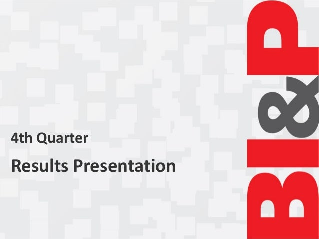 4th QuarterResults Presentation
