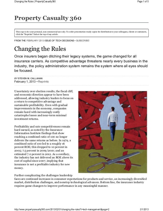 201302 Tech Decisions: Changing the Rules
