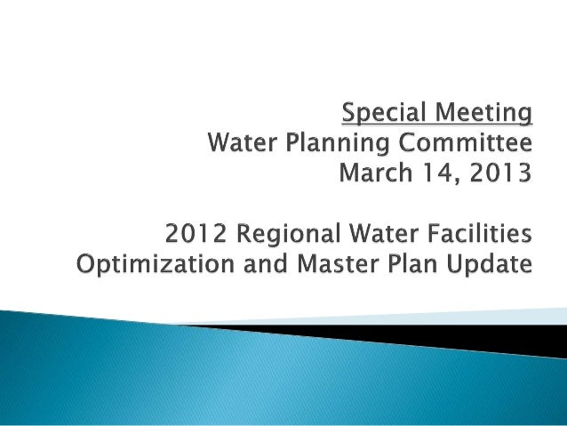    The Master Plan is the Water Authority's    roadmap for capital investments through 2035   Previous Master Plan compl...