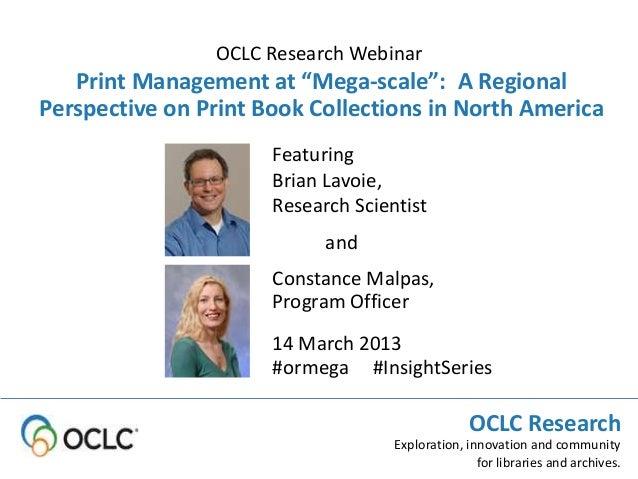 Print Management at Mega-Scale: Focus on Academic Libraries