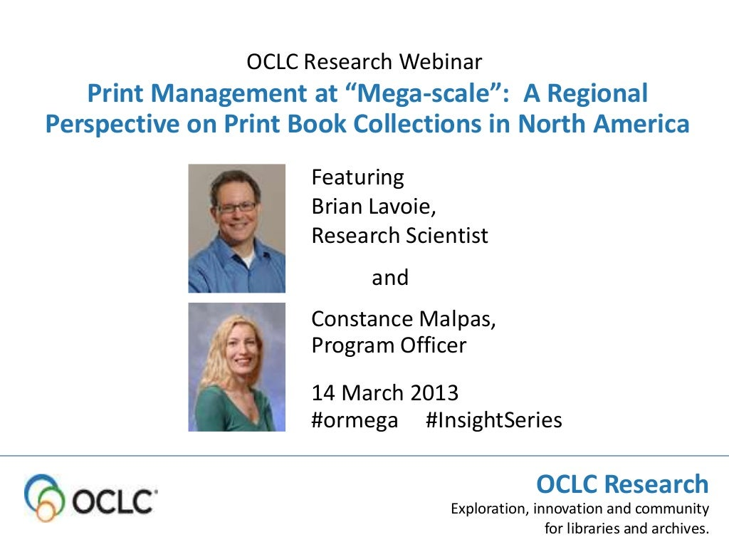 Print Management at Mega-Scale: Focus on Academic Libraries