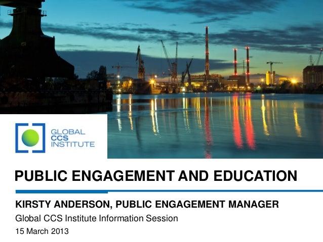 Public Engagement and Education
