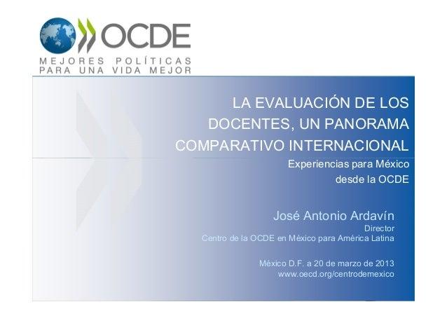 La evaluación de los docentes, un panorama comparativo internacional