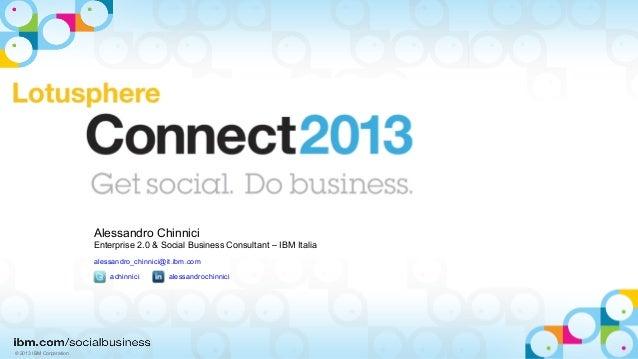 IBM Connect 2013 - Milano