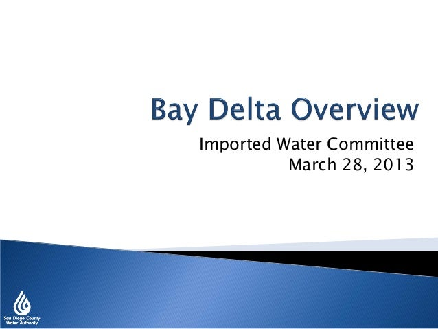 Imported Water Committee March 28, 2013