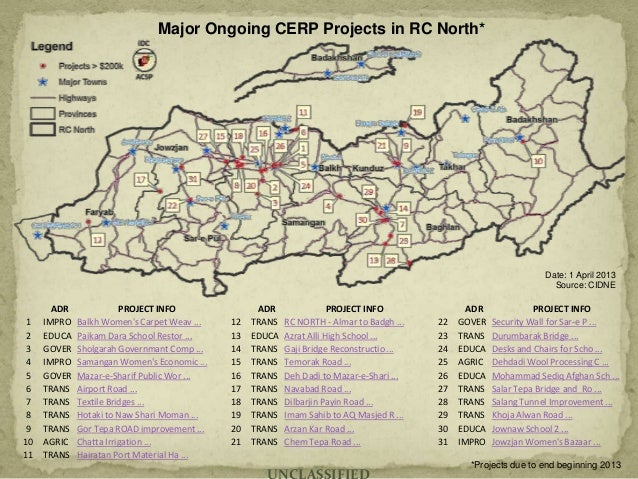 RC-N Major Projects Map Sample