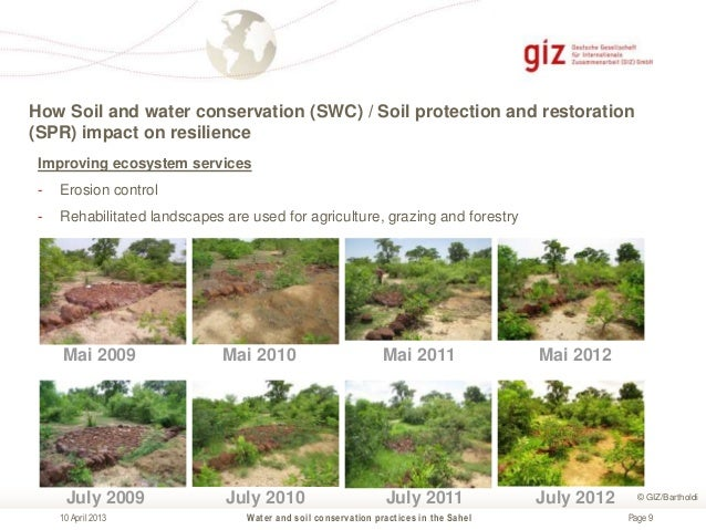 information about soil erosion and conservation The practice of soil conservation involves using various methods to reduce soil erosion, to prevent depletion of soil nutrients, and to restore nutrients.