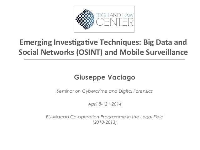 OSINT Social Media Techniques - Macau social mediat lc