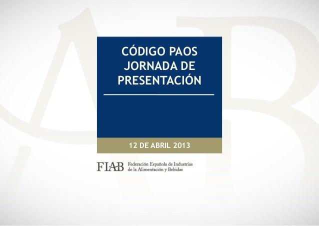 20130412 presentación paos   fiab