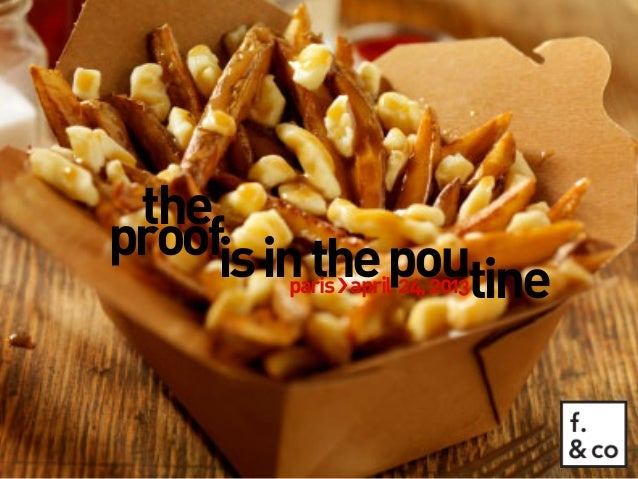 Creative Montreal: The proof is in the poutine