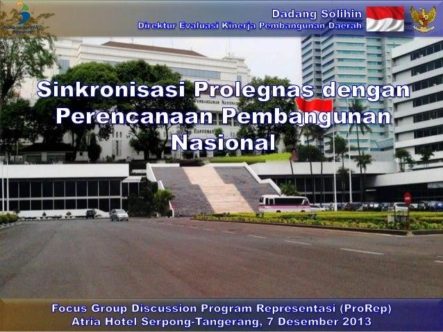 Sinkronisasi Prolegnas dengan Perencanaan Pembangunan Nasional