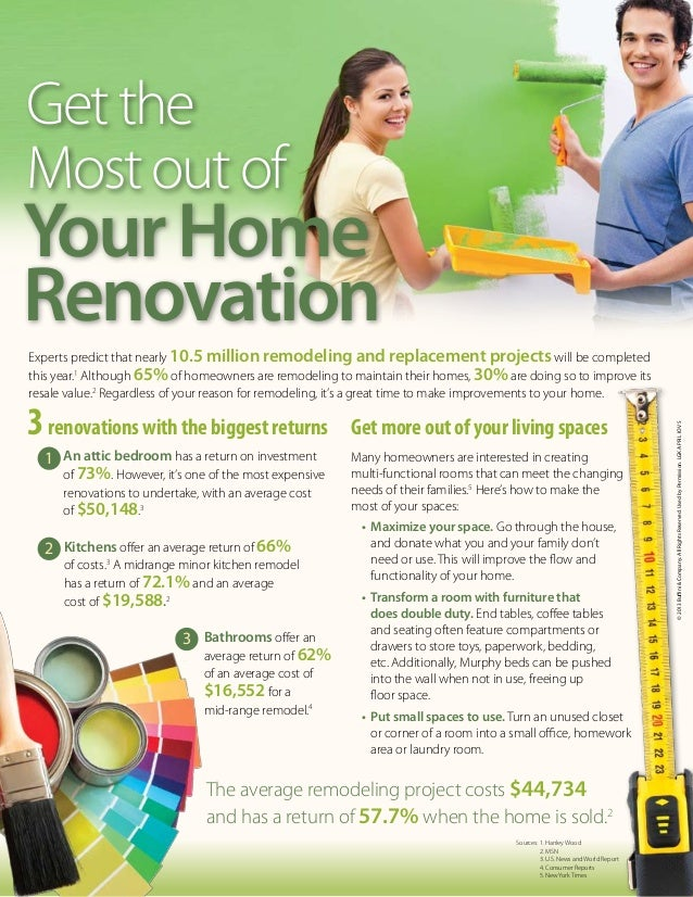 Get theMost out ofYour HomeRenovationExperts predict that nearly 10.5 million remodeling and replacement projects will be ...