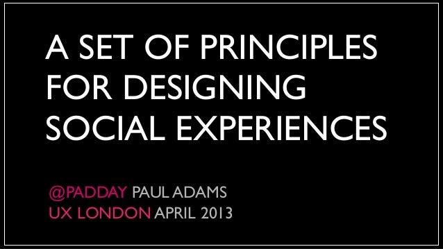 Social Design Principles
