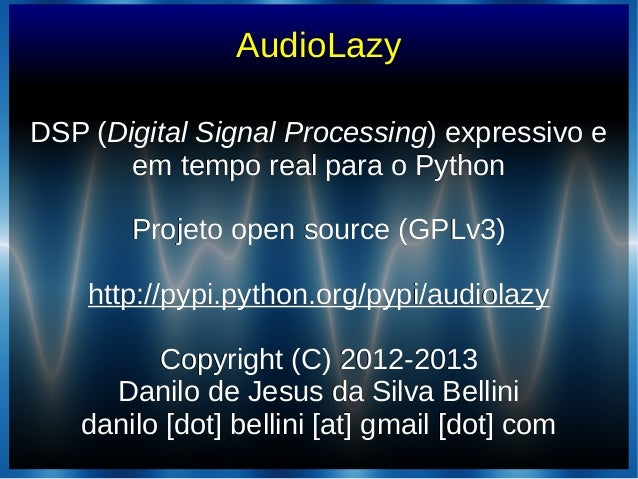(2013-05-03) AudioLazy - Slides