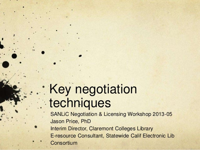 Electronic resource negotiation and licensing SANLiC 2013