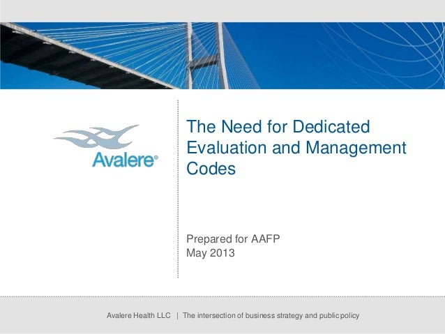 The Need for Dedicated Evaluation Management Codes