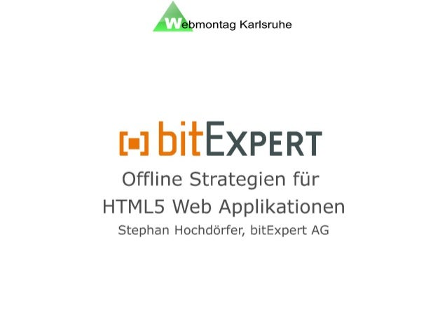 Offline-Strategien für HTML5 Web Applikationen - wmka
