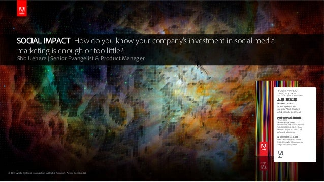 PCC#105 PT2. SOCIAL IMPACT: How do you know your company's investment in social media marketing is enough or too little?
