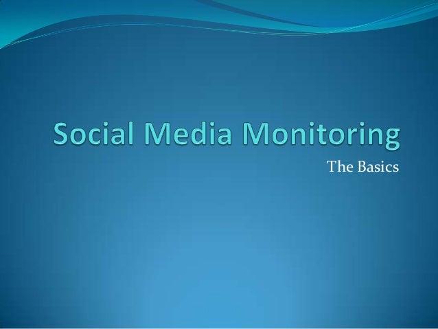 Basics of Social Media Monitoring