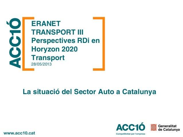 La situació del Sector Auto a Catalunya - Tomás Megía / ACCIÓ